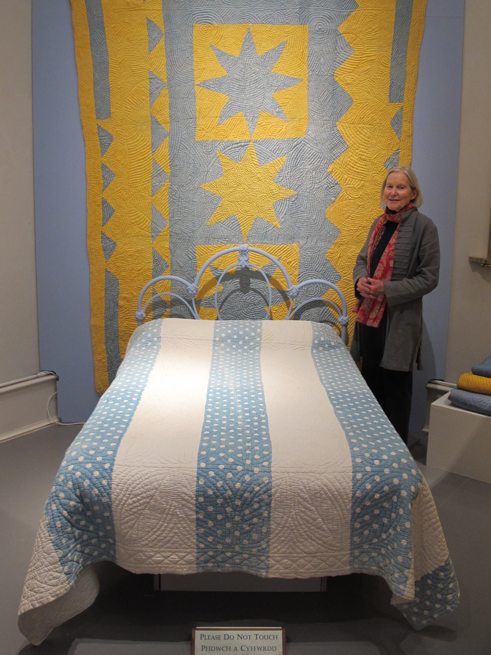 Jen Jones with one of her favourite quilts