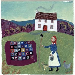 Farmyard with quilt