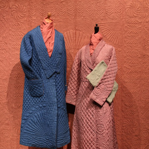 Dressing gowns blue dusky pink