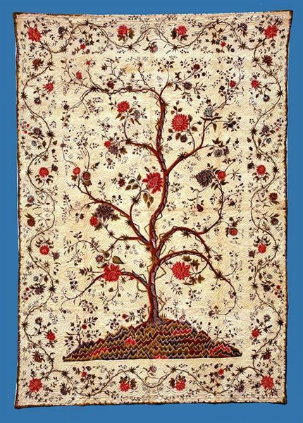 Tree Of Life quilt Gwaun Valley, Pembrokeshire c.1810