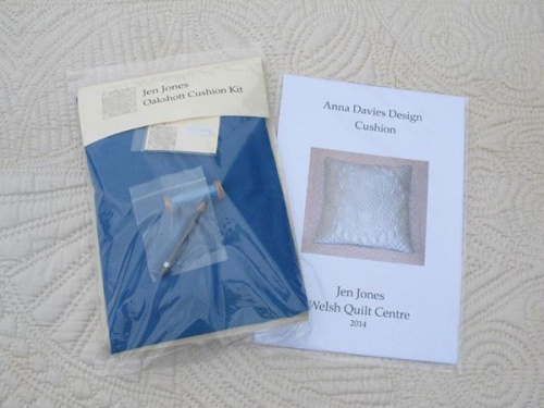 Anna Davies cushion kit with blue material