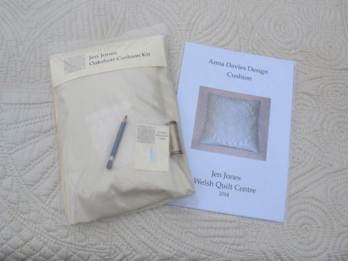 Anna Davies cushion kit with cream material