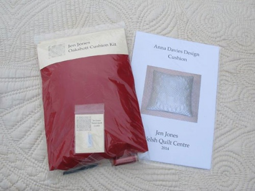 Anna Davies cushion kit with red material